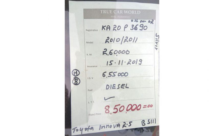 Toyota Innova 2.5 V BS III
